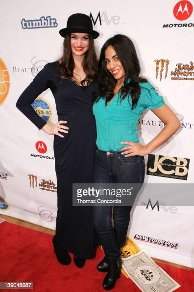 Actresses Lily Halpern and Sharon Carpenter attend the STYLE360 presentation of Monopoly by Junk Food Art house 'Money Can't Buy Happiness' at the...