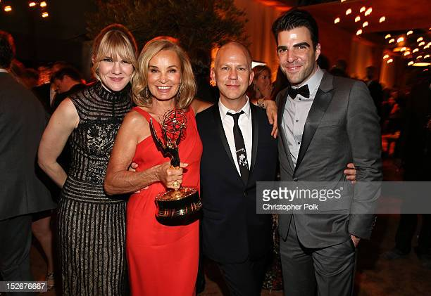 Actresses Lily Rabe Jessica Lange producer/creator Ryan Murphy and Zachary Quinto attend the FOX Broadcasting Company Twentieth Century FOX...
