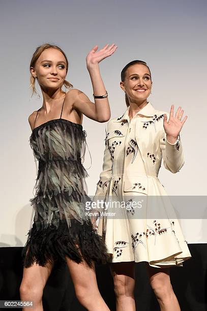 Actresses LilyRose Depp and Natalie Portman attend the 'Planetarium' premiere during the 2016 Toronto International Film Festival at Roy Thomson Hall...