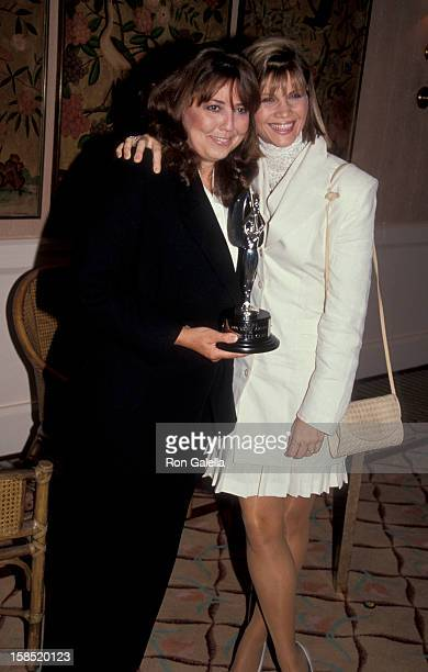 Actresses Linda BloodworthThomason and Markie Post attending 'Genii Awards Gala' on May 30 1991 at the Beverly Hills Hotel in Beverly Hills California