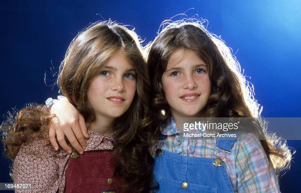 Actresses Lindsay Greenbush and Sidney Greenbush pose for a portrait in circa 1980