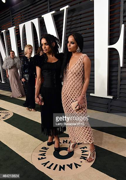 Actresses Lisa Bonet and Zoe Kravitz attend the 2015 Vanity Fair Oscar Party hosted by Graydon Carter at the Wallis Annenberg Center for the...