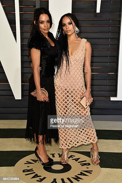 Actresses Lisa Bonet and Zoe Kravitz attend the 2015 Vanity Fair Oscar Party hosted by Graydon Carter at Wallis Annenberg Center for the Performing...