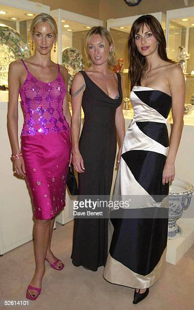 Actresses Lisa Butcher Victoria Smurfit and Tasha de Vasconcelos attend the Grosvenor House Art Antiques Fair Charity Gala Evening in aid of...
