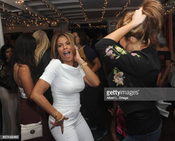 Actresses Lisa Vidal and Jaina Ortiz attend Vanessa E Garcia's Art Show with partial proceeds going to House of Ruth based in East Los Angeles that...