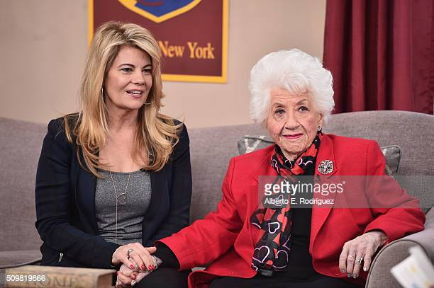 Actresses Lisa Whelchel and Charlotte Rae attend Hallmark's Home and Family 'Facts Of Life Reunion' at Universal Studios Backlot on February 12 2016...