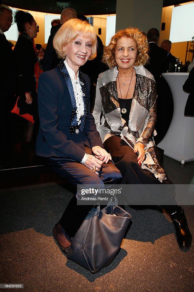 Actresses Liselotte Pulver and Michaela May attend the Steiger Award 2013 at Dortmunder U on October 12, 2013 in Dortmund, Germany.
