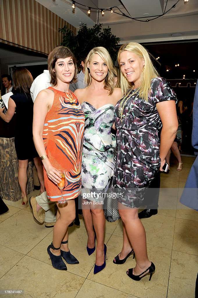 Actresses Lizzy Caplan, Ali Larter and Busy Philipps celebrate the release of Ali Larter's new cookbook 'Kitchen Revelry' with Perrier-Jouet at Sunset Tower on August 27, 2013 in West Hollywood, California.