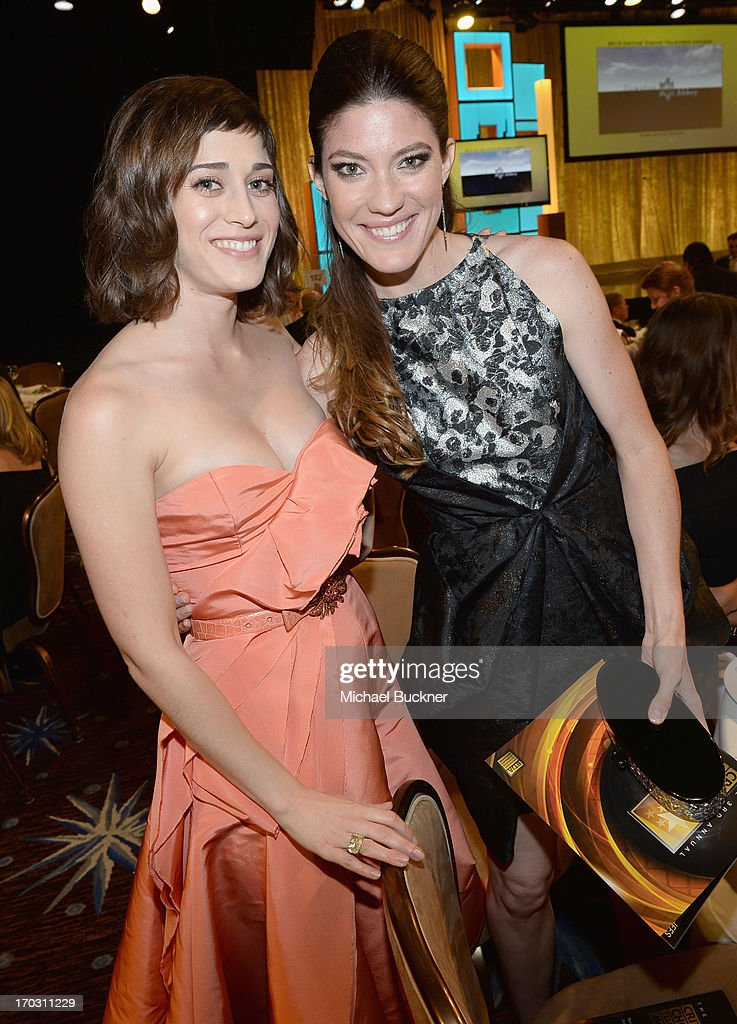 Actresses <a gi-track='captionPersonalityLinkClicked' href=/galleries/search?phrase=Lizzy+Caplan&family=editorial&specificpeople=599560 ng-click='$event.stopPropagation()'>Lizzy Caplan</a> (L) and <a gi-track='captionPersonalityLinkClicked' href=/galleries/search?phrase=Jennifer+Carpenter&family=editorial&specificpeople=595643 ng-click='$event.stopPropagation()'>Jennifer Carpenter</a> arrives at Broadcast Television Journalists Association's third annual Critics' Choice Television Awards at The Beverly Hilton Hotel on June 10, 2013 in Beverly Hills, California.
