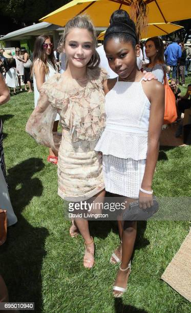 Actresses Lizzy Greene and Riele Downs attend Children Mending Hearts 9th Annual Empathy Rocks Fundraiser at a private residence on June 11 2017 in...