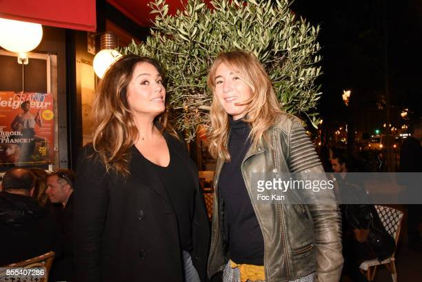 Actresses Lola Dewaere and Anais Aidoud attend the 'Apero Gouter' Cocktail Hosted by Le Grand Seigneur Magazine at Bistrot Marguerite on September 28...