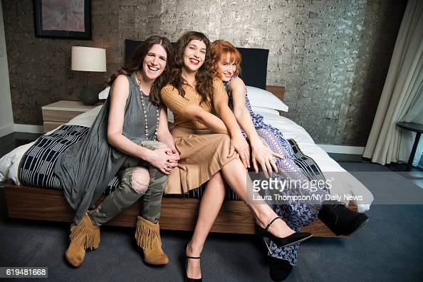 Actresses Lola Kirke and Breeda Wool with Director Deb Shoval are photographed for NY Daily News on April 15 in New York City