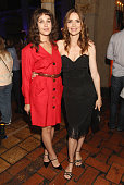 Actresses Lola Kirke and Saffron Burrows attend the 'Mozart In The Jungle' Emmy FYC screening event at Hollywood Roosevelt Hotel on April 21 2016 in...