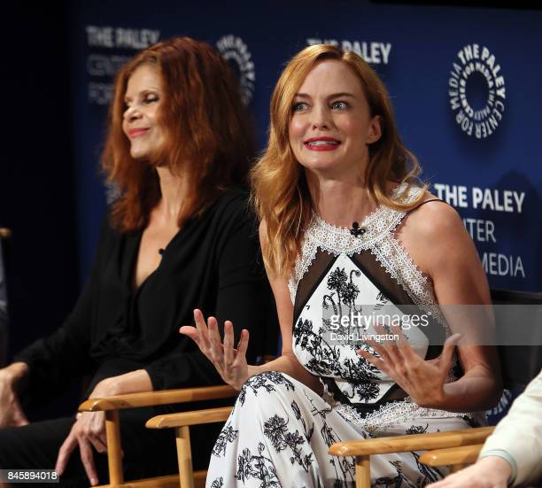Actresses Lolita Davidovich and Heather Graham attend The Paley Center for Media's 11th Annual PaleyFest fall TV previews Los Angeles for NBC's Law...