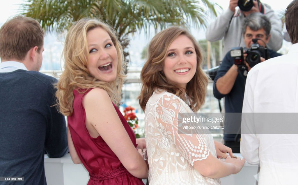 Actresses Louisa Krause and Elizabeth Olsen attend the 'Martha Marcy May Marlene' photocall at the Palais des Festivals during 64th Cannes Film Festival on May 15, 2011 in Cannes, France.