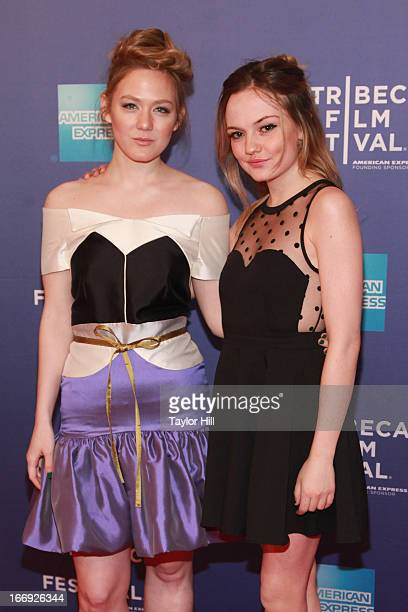 Actresses Louisa Krause and Emily Meade attend the screening of 'Bluebird' during the 2013 Tribeca Film Festival at SVA Theater 1 on April 18 2013 in...