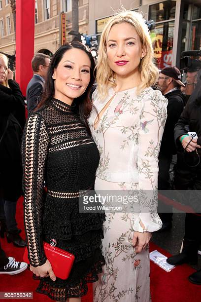 Actresses Lucy Liu and Kate Hudson attend the premiere of DreamWorks Animation and Twentieth Century Fox's 'Kung Fu Panda 3' at the TCL Chinese...