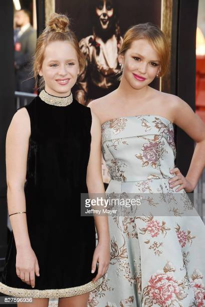 Actresses Lulu Wilson and Talitha Bateman attend the premiere of New Line Cinema's 'Annabelle Creation' at TCL Chinese Theatre IMAX on August 07 2017...
