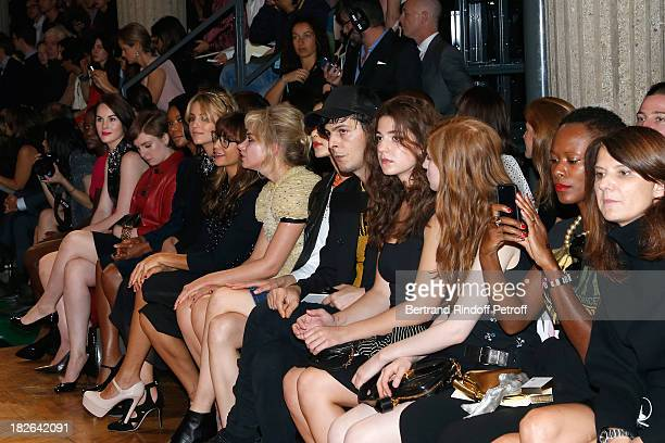 Actresses Lupita Nyongo Michelle Dockery Lena Dunham Gabrielle Union Dianna Agron Rashida Jones Imogen Poots Esther Garrel and Agathe Bonitzer attend...