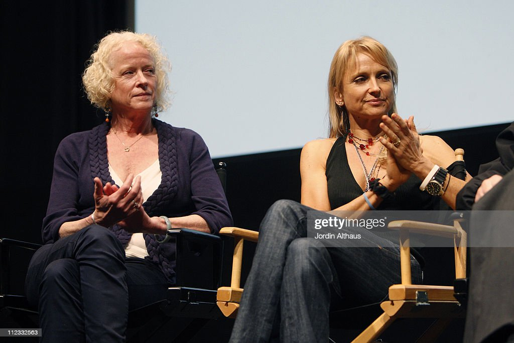 Actresses Lynn Baker Pitoun (L) and TC Laughlin attend the 2009 Los Angeles Film Festival's HD restored 'Billy Jack' screening sponsored by People at the Billy Wilder Theater at The Hammer Museum June 21, 2009 in Westwood, California.