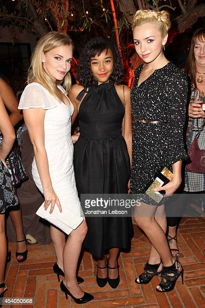 Actresses Madeline Brewer Amandla Stenberg and Peyton List attend Variety and Women in Film Emmy Nominee Celebration powered by Samsung Galaxy on...