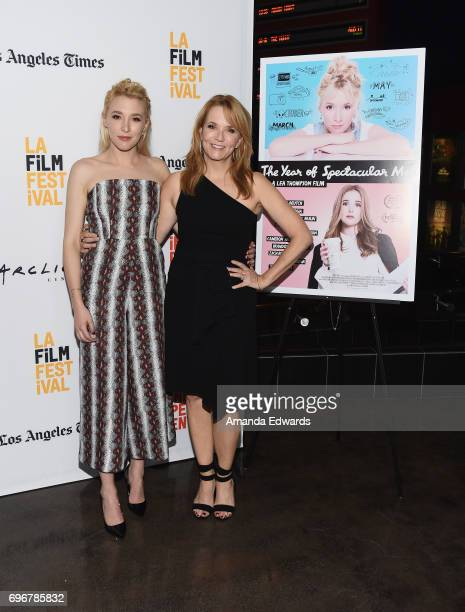 Actresses Madelyn Deutch and Lea Thompson attend the 2017 Los Angeles Film Festival premiere of 'The Year Of Spectacular Men' at ArcLight Santa...