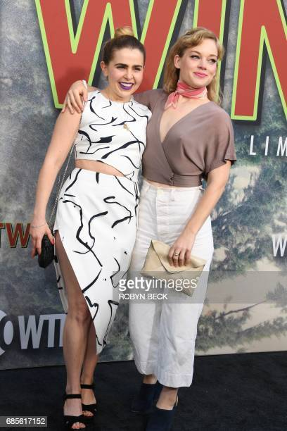 Actresses Mae Whitman and Jane Lev attend the world premiere of the Showtime limitedevent series 'Twin Peaks' May 19 2017 at the Ace Hotel in Los...
