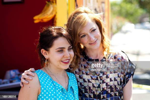 Actresses Mae Whitman and Judy Greer attend the 'Arrested Development' Bluth's Original Frozen Banana Stand on May 20 2013 in Culver City California