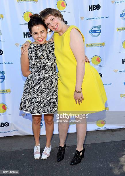 Actresses Mae Whitman and Lena Dunham arrive at the LA Loves Alex's Lemonade Culinary Event Benefiting Alex's Lemonade Stand Foundation at Culver...