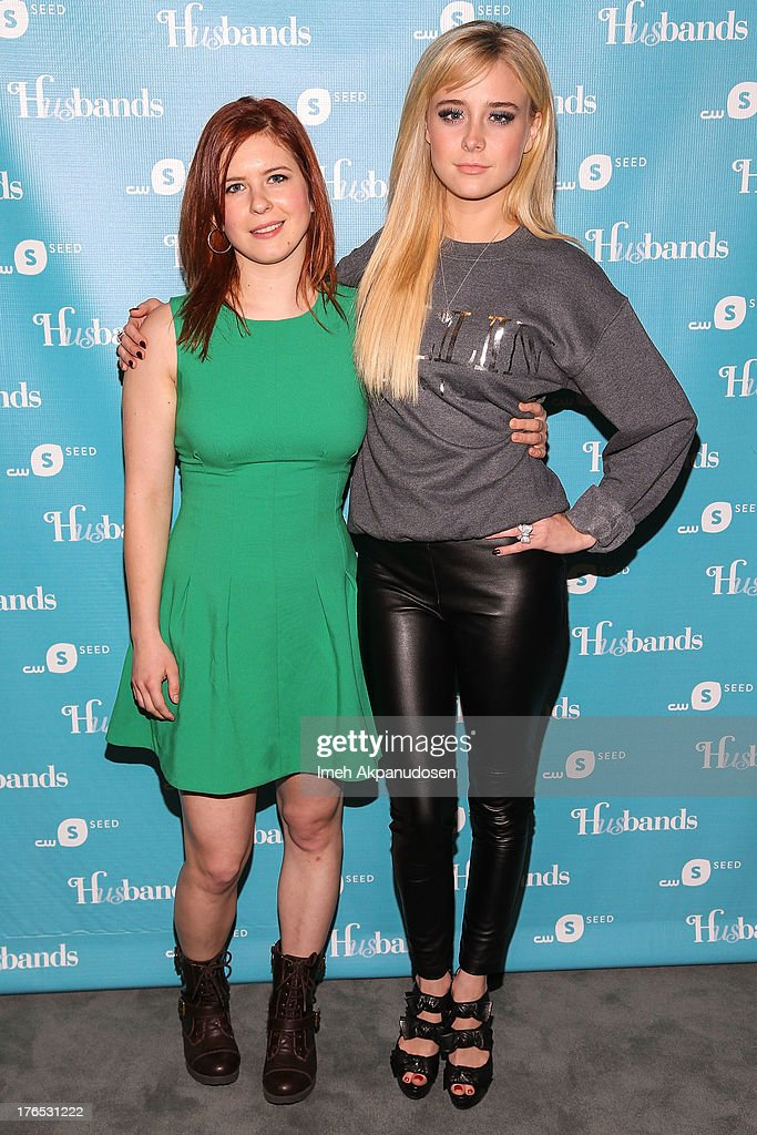 Actresses Magda Apanowicz (L) and Alessandra Torresani attend the premiere of CW Seed's 'Husbands' at The Paley Center for Media on August 14, 2013 in Beverly Hills, California.