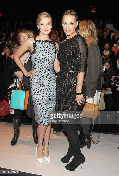 Actresses Maggie Grace and Molly Sims attend the Carolina Herrera fashion show during Fall 2013 MercedesBenz Fashion Week at The Theatre at Lincoln...