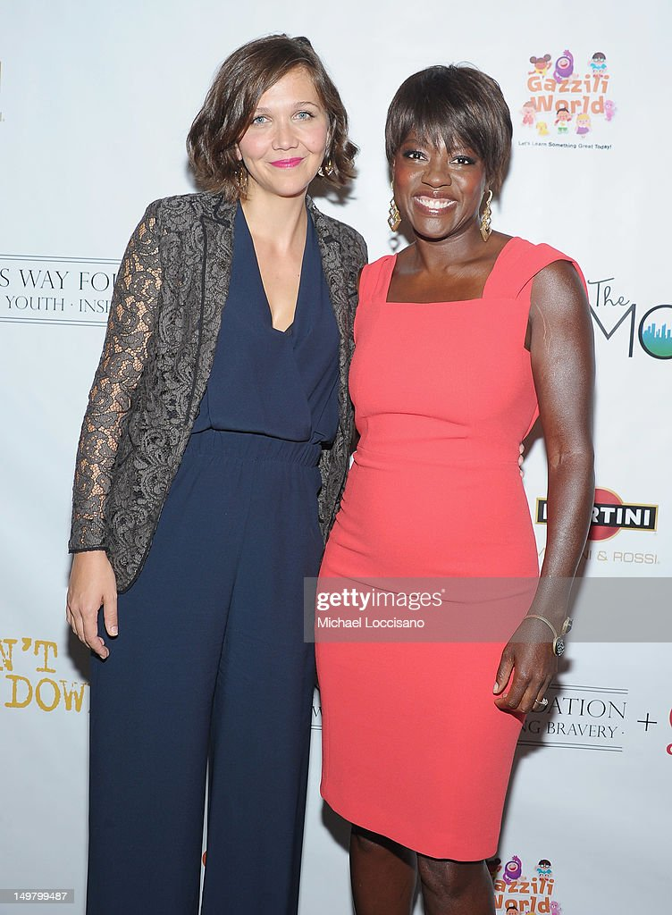 Actresses Maggie Gyllenhaal and Viola Davis attend the 'Won't Back Down' screening at NYIT Auditorium on August 3, 2012 in New York City.