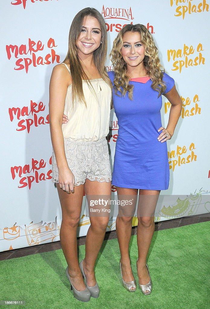 Actresses <a gi-track='captionPersonalityLinkClicked' href=/galleries/search?phrase=Makenzie+Vega&family=editorial&specificpeople=642008 ng-click='$event.stopPropagation()'>Makenzie Vega</a> (L) and sister Alexa Vega attend the Aquafina FlavorSplash Launch on October 15, 2013 at Sony Pictures Studios in Culver City, California.