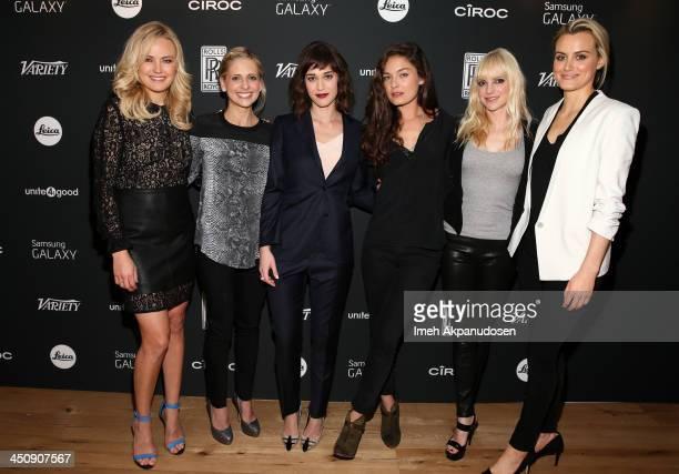 Actresses Malin Akerman Sarah Michelle Gellar Lizzy Caplan Alexa Davalos Anna Faris and Taylor Schilling attend Variety Awards Studio Day 1 at the...