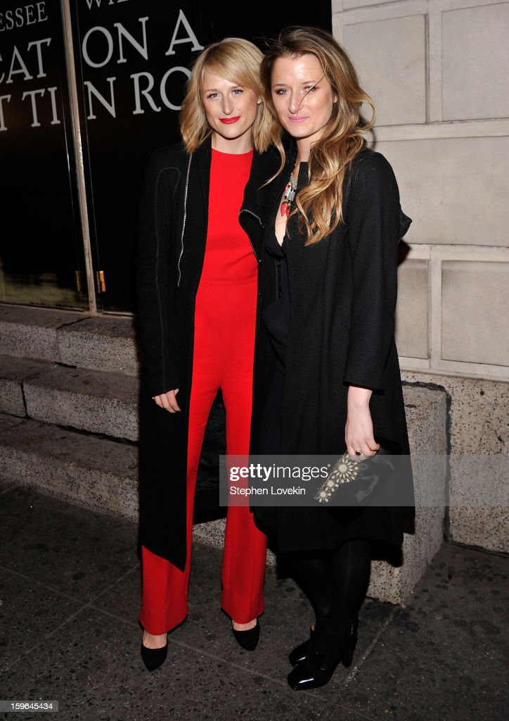 Actresses <a gi-track='captionPersonalityLinkClicked' href=/galleries/search?phrase=Mamie+Gummer&family=editorial&specificpeople=805216 ng-click='$event.stopPropagation()'>Mamie Gummer</a> and <a gi-track='captionPersonalityLinkClicked' href=/galleries/search?phrase=Grace+Gummer&family=editorial&specificpeople=594142 ng-click='$event.stopPropagation()'>Grace Gummer</a> attend the 'Cat On A Hot Tin Roof' Opening Night at Richard Rodgers Theatre on January 17, 2013 in New York City.
