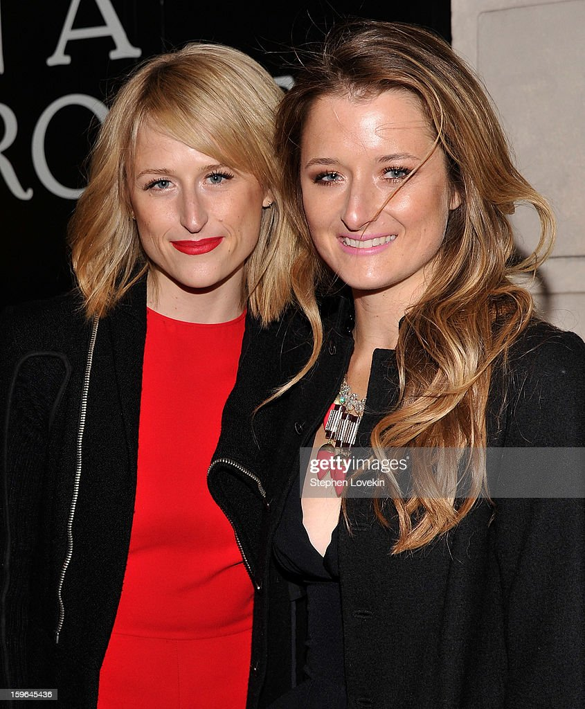 Actresses Mamie Gummer and Grace Gummer attend the 'Cat On A Hot Tin Roof' Opening Night at Richard Rodgers Theatre on January 17, 2013 in New York City.
