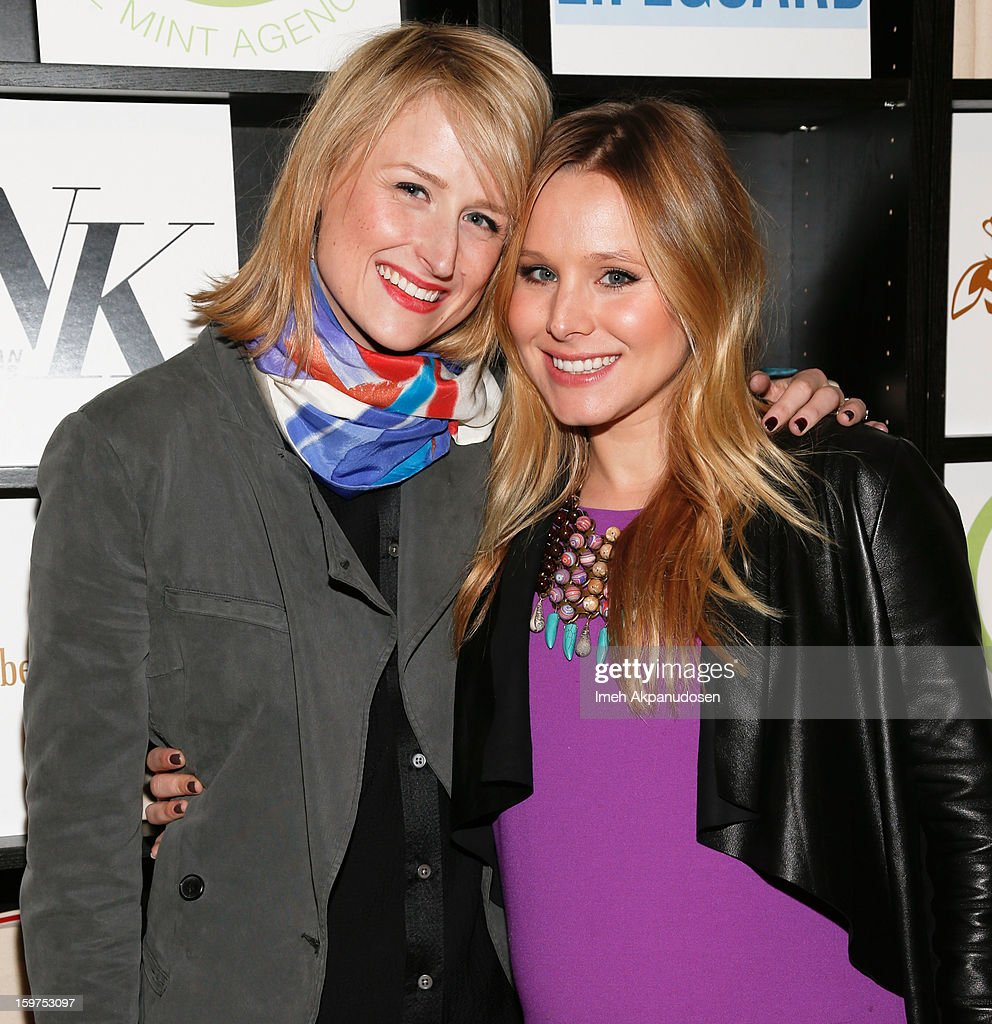 Actresses Mamie Gummer (L) and Kristen Bell attend 'The Lifeguard' after party on January 19, 2013 in Park City, Utah.
