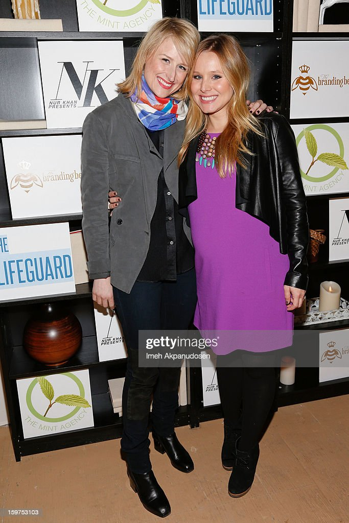Actresses <a gi-track='captionPersonalityLinkClicked' href=/galleries/search?phrase=Mamie+Gummer&family=editorial&specificpeople=805216 ng-click='$event.stopPropagation()'>Mamie Gummer</a> (L) and <a gi-track='captionPersonalityLinkClicked' href=/galleries/search?phrase=Kristen+Bell&family=editorial&specificpeople=194764 ng-click='$event.stopPropagation()'>Kristen Bell</a> attend 'The Lifeguard' after party on January 19, 2013 in Park City, Utah.