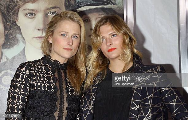 Actresses Mamie Gummer and Louisa Gummer attend the 'Suffragette' New York premiere at The Paris Theatre on October 12 2015 in New York City