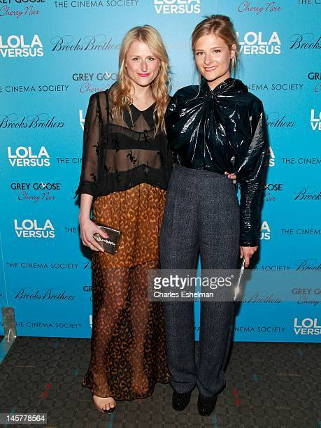 Actresses Mamie Gummer and Louisa Gummer attends The Cinema Society Brooks Brothers with Grey Goose screening of 'Lola Versus' at the SVA Theatre on...