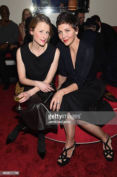 Actresses Mamie Gummer and Maggie Gyllenhaal attend the Miu Miu Women's Tales 9th Edition 'De Djess' screening on February 18 2015 in New York City
