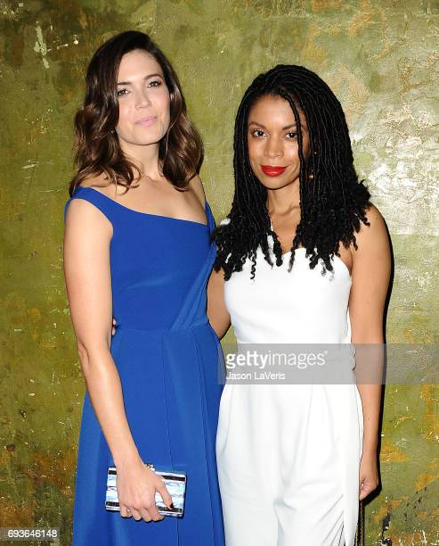 Actresses Mandy Moore and Susan Kelechi Watson attend the 'This Is Us' FYC screening and panel at The Cinerama Dome on June 7 2017 in Los Angeles...