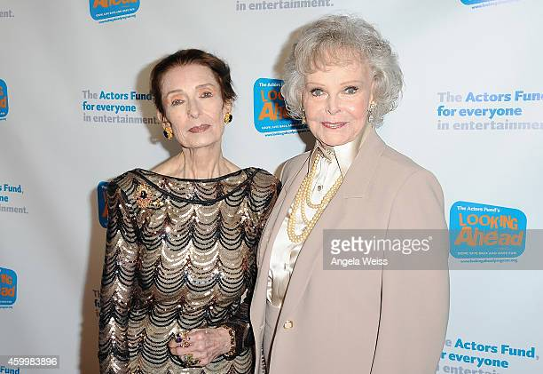 Actresses Margaret O'Brien and June Lockhart arrive at The Actor's Fund 2014 The Looking Ahead Awards at Taglyan Cultural Complex on December 4 2014...