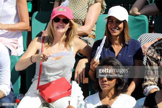 Actresses Margot Bancilhon and Alice Belaidi are spotted at Roland Garros on June 8 2017 in Paris France