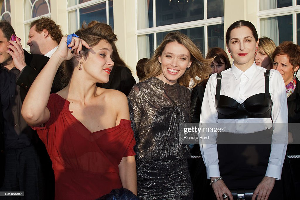 Actresses Marie Denarnaud, <a gi-track='captionPersonalityLinkClicked' href=/galleries/search?phrase=Anne+Marivin&family=editorial&specificpeople=4111652 ng-click='$event.stopPropagation()'>Anne Marivin</a> and <a gi-track='captionPersonalityLinkClicked' href=/galleries/search?phrase=Amira+Casar&family=editorial&specificpeople=239076 ng-click='$event.stopPropagation()'>Amira Casar</a> attend the 26th Cabourg Romantic Film Festival on June 16, 2012 in Cabourg, France.