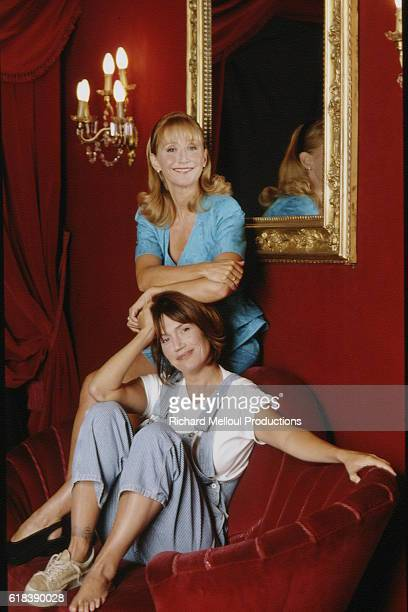Actresses MarieAnne Chazel and Clementine Celarie star in Neil Simon's play Drole de Couple at the BouffesParisiens theatre