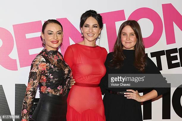 Actresses Marimar Vega Barbara Mori and Natasha Dupeyron attend the 'Treintona Soltera Y Fantastica' Mexico City premiere at Cinemex Antara Polanco...