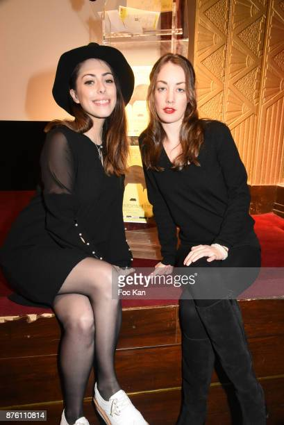 Actresses Marion Burah and Juliette Besson attend 'Cours Charlie Courts' Short Movies Festival at Cinema Chaplin Saint Lambert on November 18 2017 in...
