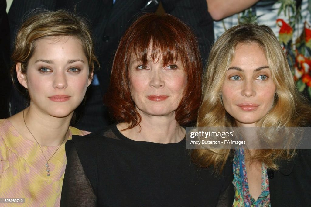 actresses Marion Cotillard, Sabine Azemar, Emmanuuelle Beart during a photocall to launch the 2004 Renault French Film Season at the French Ambassador's Residence in Kensington, west London.