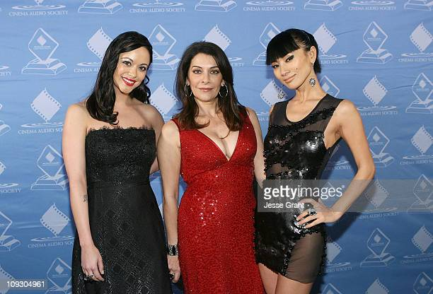 Actresses Marisa Ramirez Marina Sirtis and Bai Ling attend the the 47th Annual Cinema Audio Society Awards at the Millennium Biltmore Hotel on...